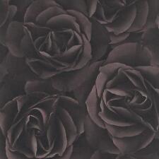 Papel Tapiz Rasch-impresionante Rosas Flores-Lujo crujiente-negruzco púrpura 525618