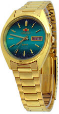 Orient FEM0401HF Men's 3 Star Standard Gold Tone Green Dial Automatic Watch