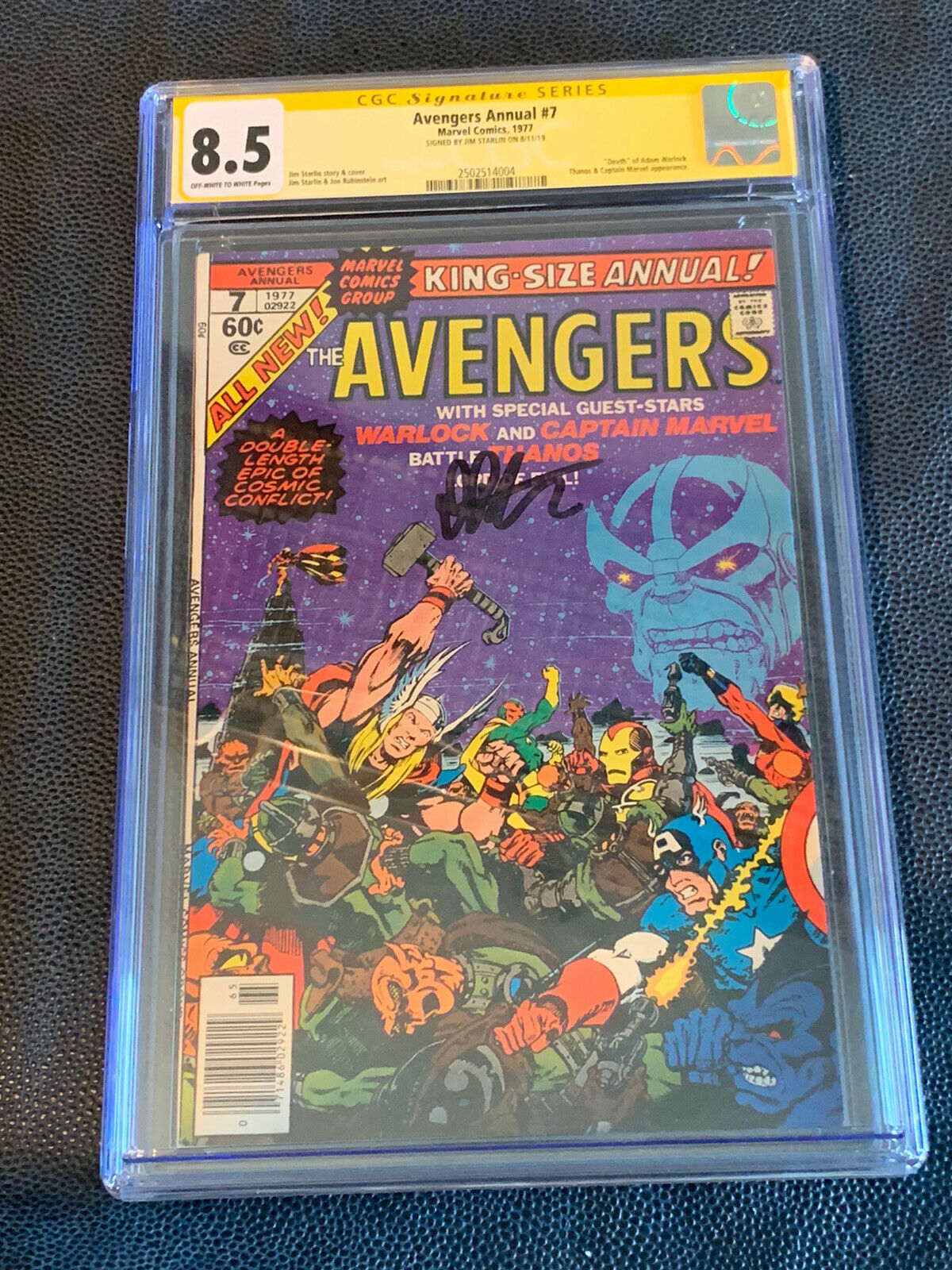 Image 1 - Avengers-Annual-7-CGC-8-5-SS-Jim-Starlin-classic-THANOS-Endgame-INFINITY-WAR