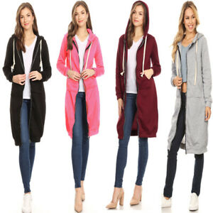 Casual-Women-039-s-Oversized-Long-Sleeve-Zip-Up-Hoodie-Sweater-Sweatshirt-Jacket-Out