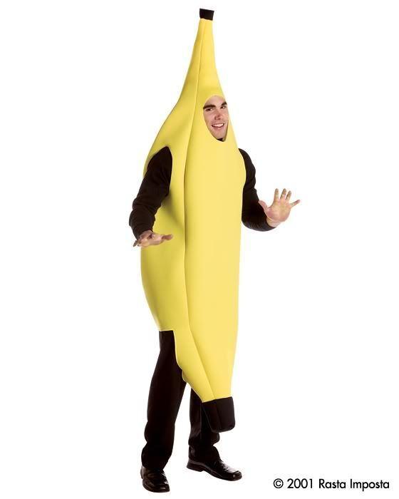 Adult Unisex DELUXE Yellow BANANA Food Costume