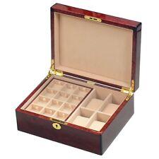 Makah Burlwood Veneer 4 Watch / 24 Cufflink Gents Valet Box by Hillwood