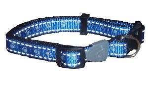 Collier de chien réfléchissant bleu petit aussi deux autres couleurs