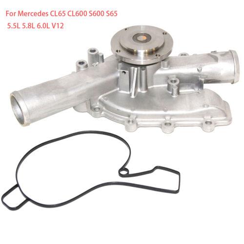 New Engine Water Pump Fits 2001-2013 Benz CL65 CL600 S600 S65 5.5L 5.8L 6.0L V12