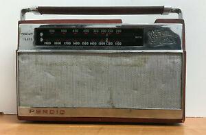 Vintage Rare Perdio PR76 Berkley Transistor Radio Tested Fully Working
