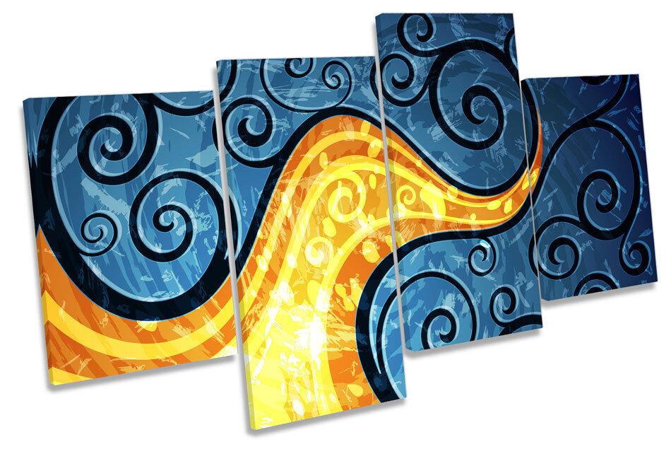 ASTRATTO VITI Disegno Floreale Multi Canvas WALL ART PICTURE PICTURE PICTURE PRINT b6f9bb