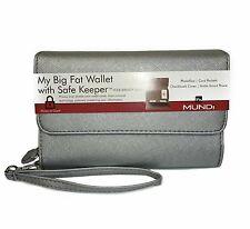 New! Mundi® My Big Fat Wristlet Wallet w/ RFID SafeKeeper - Staffino Silver
