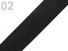 2 Meter Taschengurt - Gurtband aus Polypropylen - 30 mm - schwarz