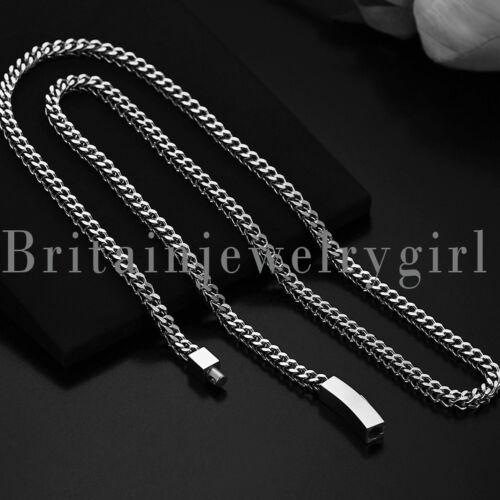 environ 65.02 cm 4 mm 25.6 in en acier inoxydable Franco chaîne collier de lien Pour Hommes Biker Punk