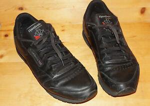 Details zu Reebok Classic Gr. 39 schwarz Echtleder 1. Hand Schuhe Damen Sneaker bequem