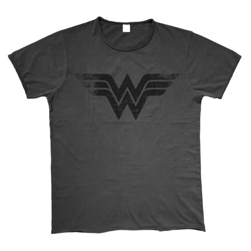 OFFICIAL DC COMICS BRAND NEW WONDER WOMAN SYMBOL VINTAGE STYLED T-SHIRT