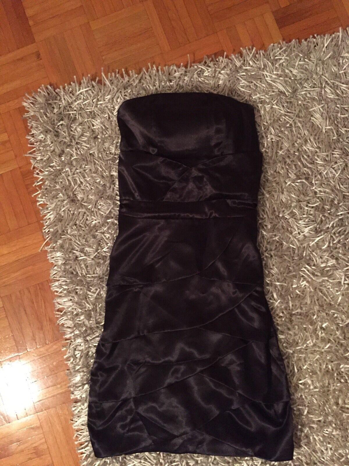 Boho Bandeau Kleid im Lagenlook Gr.36 38 schwarz TOP