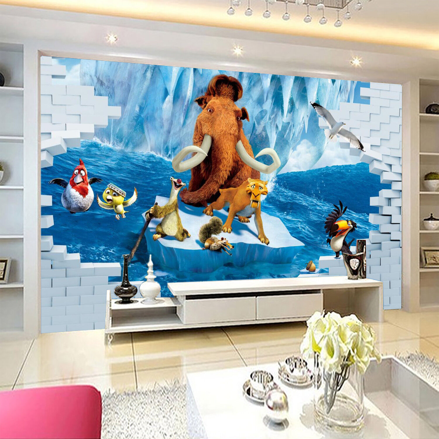 3D Animal Lion 97 Wallpaper Mural Wall Print Wall Wallpaper Murals US Carly