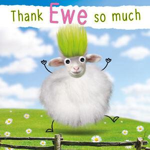 Merci De Brebis Drole Moutons 3d Peluche Handmade Carte De Vœux Farm Animal Lovers Ebay
