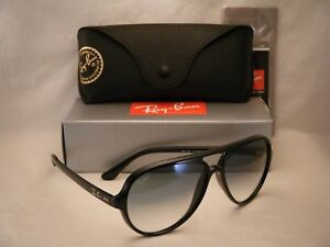bd670ceea73 Ray Ban 4125 CATS 5000 Black w Clear Gradient Lens (RB4125 601 3F ...