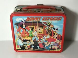 Disney-Express-Tin-Lunchbox-amp-Thermos-by-Aladdin-Industries-1979-Vintage-Rare