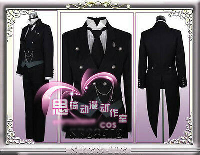Black Butler Sebastian Michaelis Kuroshitsuji Cosplay Costume The Tuxedo
