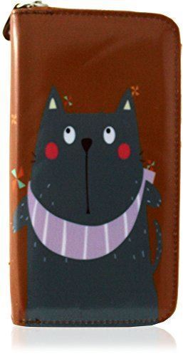 KukuBird Cat 3D features Pattern Large /& Medium Size Ladies Purse Clutch Wallet