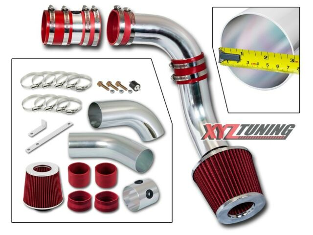 "3"" RED Cold Air Intake Kit + Filter For 99-05 Grand Am/Alero 3.4L V6"