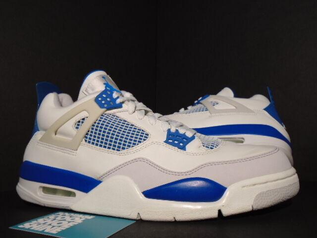 2006 Nike Air Jordan IV 4 Retro WHITE MILITARY blueE CEMENT GREY 308497-141 DS 11