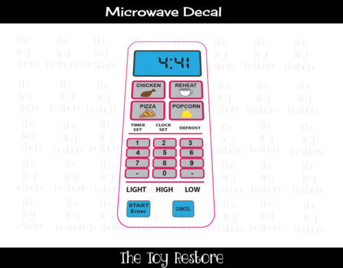New Replacement Decals Stickers Generic to fit any kitchen Microwave decal White