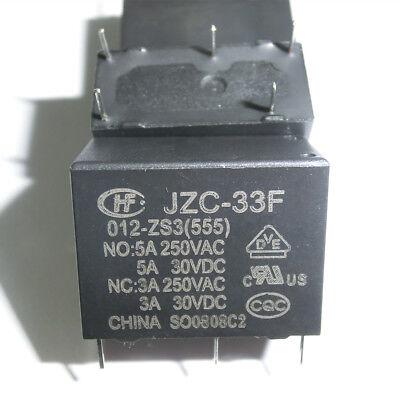 10PCS HF33F-005-ZS3 JZC-33F-005-ZS3 5VDC SPST ORIGINAL Relay 5PINS