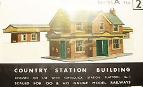 SQA2 COUNTRY STATION BUILDING SuperQuick Models Kit Buildings Autres