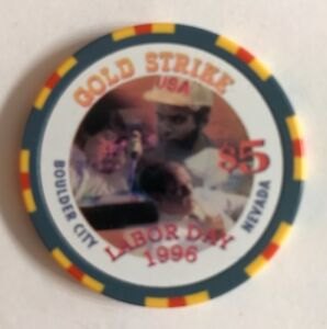 Details About Gold Strike Boulder City 5 Labor Day Casino Chip Vegas 1996