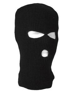 Mil-Tec Balaclava schwarz Sturmhaube 3-loch Kopfhaube Gesichtsmaske Maske