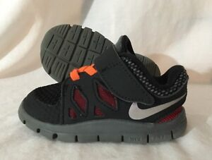 f1d308e20596 Nike Free 5.0 Shoes Baby Toddler Size 5C Orange Red Black