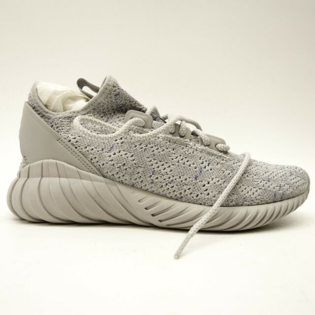19d240eaed3c adidas Mens Dark Grey black Tubular Doom Dock Lace up Mesh Sneaker ...