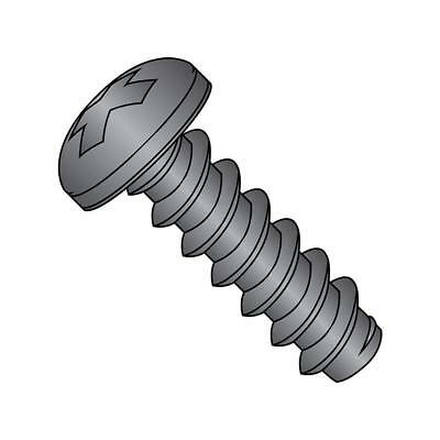 Pack of 100 1 Length Small Parts 1016BPFB Phillips Drive Black Oxide Finish Pack of 100 #10-16 Thread Size Steel Sheet Metal Screw 82 degrees Flat Head Type B 1 Length