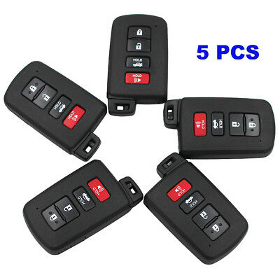 Pair 3+1 Button Smart Remote Key Shell Case Fob 4 Button for Toyota Avalon Camry