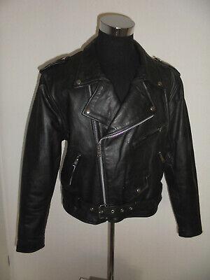 Fornitura Vintage Tecone Giacca Moto In Pelle Biker Giacca Us Leather Motorcycle Jacket M/l-mostra Il Titolo Originale Sii Amichevole In Uso