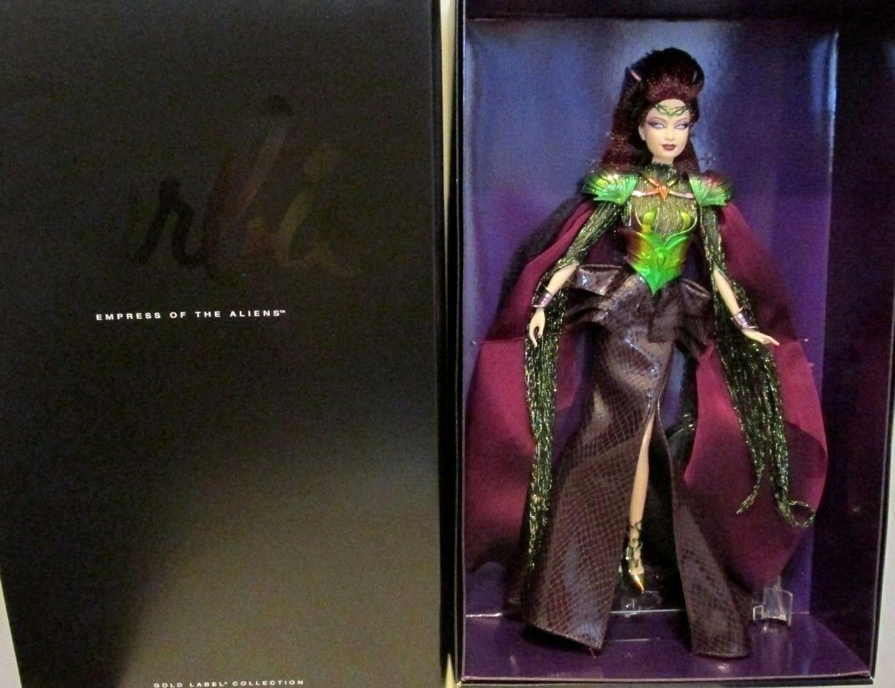 2012 BARBIE DOLL  EMPRESS OF THE ALIENS   Gold LABEL  NRFB  MINT  SHIPPER