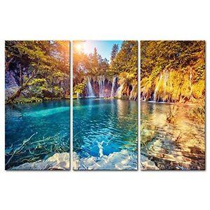 Captivating Image Is Loading Framed Sunny Lake Nature Landscape Canvas Wall Art