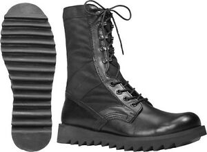Image is loading Black-Leather-Jungle-Boots-Army-Stylish-Fashionable-Cool- 530e19c1c