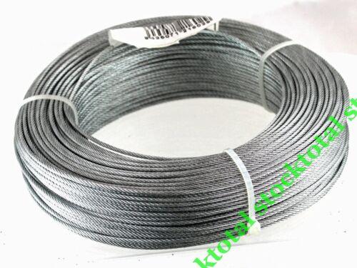 100 MTS CABLE DE ACERO GALVANIZADO 6x 7+1 X 100 MTS 2 mm TS