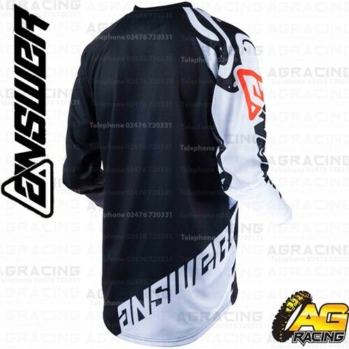Answer Racing 2019 Syncron Flow White Black Orange Jersey Shirt Top Motocross