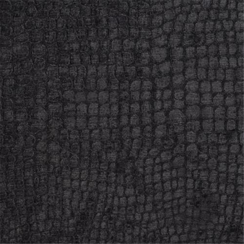 Designer Fabrics K0151R 54 in Wide Black Textured Alligator Shiny Woven Velv...