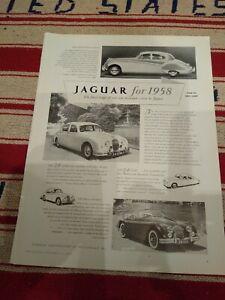 1957 Uk Jaguar Car Ad Mark Viii Xk 150 Classic Beauties Ebay