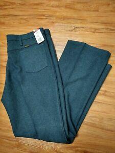 Para Hombres Pantalones Wrangler Wrancher Vestido Vaquero Occidental 100 Poliester Talla 42 32 Ebay