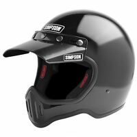 Simpson M50 Motorcycle Helmet Dot Approved Gloss Black S Small 56cm 7