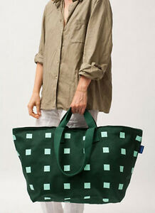 Details About Baggu Weekend Bag Travel Luggage Large Tote Zipper 100 Cotton Canvas Stripe