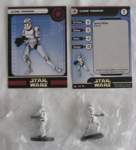 New /& Sealed Star Wars Miniatures UNIVERSE CLONE TROOPER x2 #1