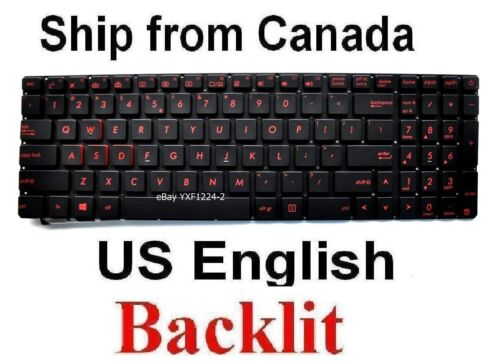 US English Keyboard for ASUS GL551 GL551V GL551VM
