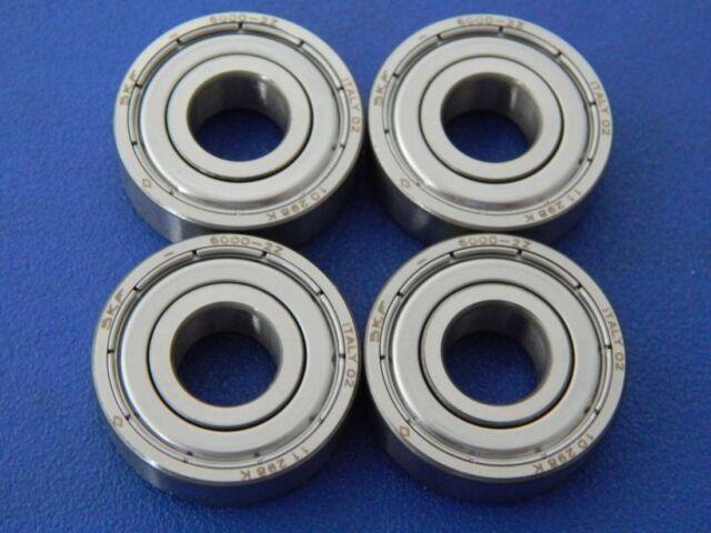 4 Pieza SKF 6000 2Z (10x26x8 mm) Rodamiento, Rodamientos ( Zz , 2ZR)