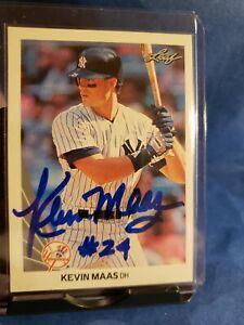 Kevin Maas Autograph Yankee H.O.F. prospect