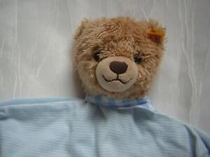 Steiff Schmusetuch Kuscheltuch Schlaf Gut BÄr Teddy Blau Weiß Gestreift 239588 ZuverläSsige Leistung Baby