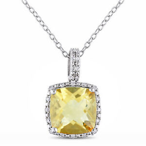 Amour-Silver-Citrine-and-1-10ct-TDW-Diamond-Necklace-G-H-I3
